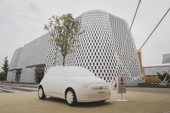 Mock Fiat 500 car at Expo 2105 in Milan, Italy Royalty Free Stock Images