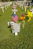 Mock grave markers Royalty Free Stock Photos