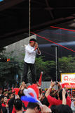 Mock Hanging at a Red Shirt Protest in Bangkok Royalty Free Stock Image