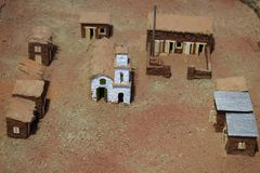 Mock-medieval city somewhere in the desert.  royalty free stock photos