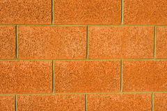 Mock red sandstone wall. Royalty Free Stock Photography