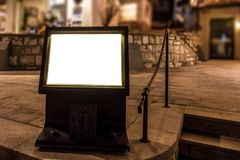 Mock Resturant Outside Menu at Night Royalty Free Stock Photography