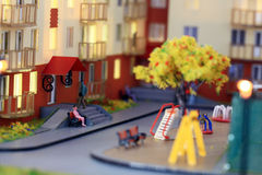 Mock town house miniature people Royalty Free Stock Photography