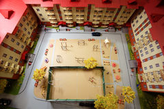 Mock town house miniature people Stock Image