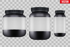 Mock-up Background of Sport Nutrition Container Stock Photo
