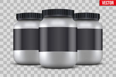 Mock-up Background of Sport Nutrition Container Stock Image