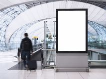 Mock up Banner Media light box with people Airport Building Royalty Free Stock Image