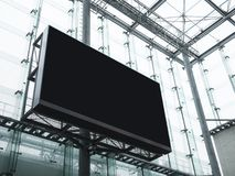 Mock up Billboard Banner Media Advertising display Modern Building. Glass Facade Background royalty free stock photography