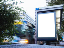 Mock up Billboard Light box at Bus Station in city Stock Photography