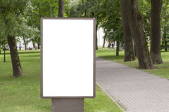 Mock up. Blank billboard with copy space for your text message or content public information in the park. Mock up. Blank billboard with copy space for your text Stock Photos