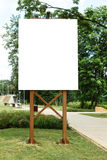 Mock up. Blank billboard outdoors, outdoor advertising, public information board in the city park Stock Image