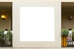 Mock up. Blank billboard, poster frame, advertising on the the wall. Royalty Free Stock Photos
