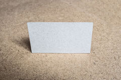 Mock up of Blank cardboard business card Royalty Free Stock Photography