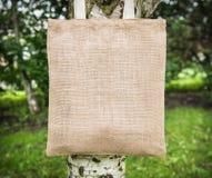 Mock up blank cotton bag Stock Photos