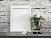 Free Mock Up Blank Frame. 3d Rendering Royalty Free Stock Image - 89585256