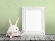 Mock up blank frame. 3d rendering Royalty Free Stock Photo