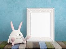 Mock up blank frame. 3d rendering Royalty Free Stock Image