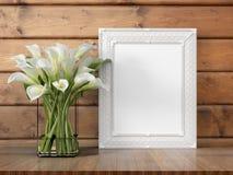 Mock up blank frame. 3d rendering Royalty Free Stock Images