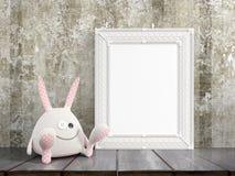 Mock up blank frame. 3d rendering Stock Images