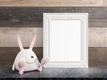 Mock up blank frame. 3d rendering Stock Photo