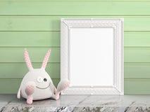Mock up blank frame. 3d rendering Stock Image