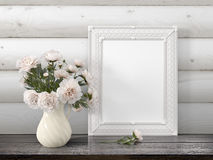 Mock up blank frame. 3d rendering Stock Images
