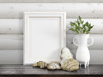 Mock up blank frame. 3d rendering Royalty Free Stock Images