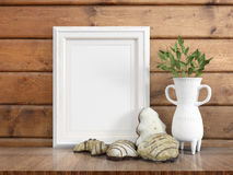 Mock up blank frame. 3d rendering Royalty Free Stock Photos