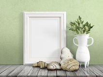 Mock up blank frame. 3d rendering Royalty Free Stock Image