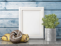 Mock up blank frame. 3d rendering Royalty Free Stock Photography