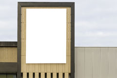 Mock up. Blank horizontal billboard with copy space for your text message or content on the wall. Stock Photo