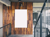 Mock up Blank Poster template Board Display Loft Interior Stock Photography