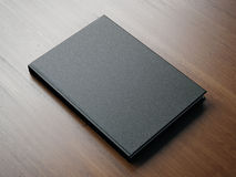 Mock up of blank small black book. 3d rendering Stock Image