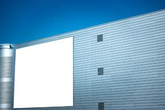 Mock up. Blank vertical billboard, poster frame, advertising on the wall.  royalty free stock image