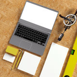 Mock up business template. Stock Photos