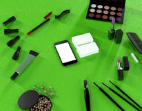 Mock up business template. Toiletry. High resolution 3D render Stock Photos