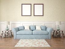 Mock up a classic living room. Royalty Free Stock Photo