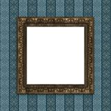 Mock up 3d vintage frame hanging on wall Royalty Free Stock Photo