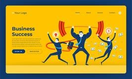 Mock-up design website flat design concept business success people skill. Vector illustration. royalty free illustration