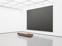 Mock up of empty gallery interior with black Stock Photos