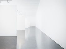 Mock up of empty museum gallery interior. 3d Royalty Free Stock Photography