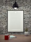 Mock up empty picture frame. Royalty Free Stock Photos