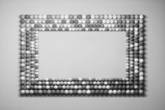Mock Up Frame Made Of Balls Royalty Free Stock Photo