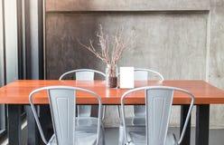 Mock up frame on table in bar restaurant cafe Stock Photos
