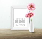 Mock up frame Wall of the interior background. Vector illustration Stock Images