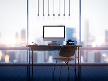Mock up of generic design computer screen on Royalty Free Stock Image