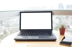 mock up laptop/notebook royalty free stock photography