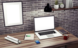 Mock up modern office. Stock Image