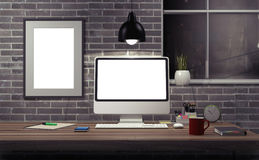 Mock up modern office. Royalty Free Stock Photo