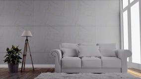 Modern room gray wall on floor wooden. 3D rendering. Mock up Modern room gray wall on floor wooden. 3D rendering vector illustration